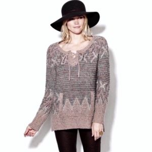 Free People Love Bug Pullover Chunky Sweater S